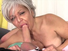 Cock hungry old women enjoy taking hard dicks in their mouth and perform amazing blowjobs, Mature videos