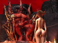 Devil plays with a super hot girl in hell, 3D Porn movies at freekiloclips.com