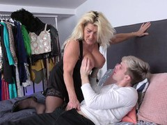 Younger man with a stiff cock fucks wet pussy of mature lola wild, Mature, Granny movies at freekiloclips.com
