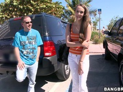 Brunette cutie vanessa renee talking with a guy in the backseat, Couple, Hardcore, Reality, Car Fucking, Long Hair videos