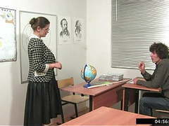 Russian teachers prefer extra lessons with lagging students 1, Blowjob, Hardcore, Mature, MILF, Old &,  Young, Russian, HD Videos, College, Student, Teacher, Teachers, Lesson, Mom, Extra tubes