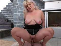 Dirty mature monika spreads her legs to ride a younger lover, Mature, Granny videos