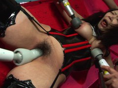 Eri kitahara has a thing for being tied up tight while guys are drilling that hairy pussy movies