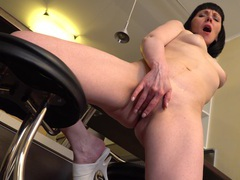 Horny mature cherry despina pleasures her cravings in the kitchen, Solo Models, Masturbation, MILF, Kitchen, Brunettes, Natural Tits, Asshole, Pussy, Thong videos