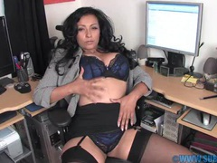 Horny milf danica collins spreads her legs in the office to play, Solo Models, Masturbation, British, MILF, Pornstars, Office, Lingerie, Stockings, Nylon, Miniskirt, Bra, Panties, Big Tits, Natural Tits, Pussy, High Heels videos