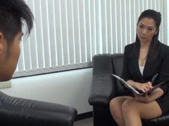 Asian milf gets her pussy fucked hard in the office and loves it tubes at find-best-asian.com
