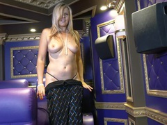 Kinky blonde mature velvet skye takes off her clothes to play, Mature movies at freekilomovies.com