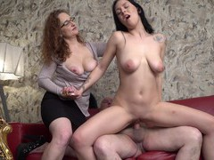 Amateur ffm threesome with a mature wife and a younger lover, Mature movies at freekilomovies.com