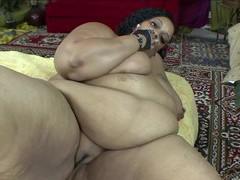 Bbw ebony slut farrah foxxx opens her legs for a black dick, BBW videos