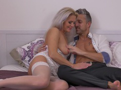 Nice pussy eating leads to fucking with hot mature kathy anderson, Mature videos