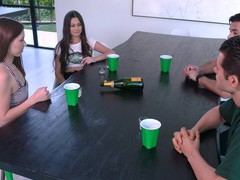 Foursome fucking with cum loving cuties cielo west and kourtney rae, Foursome, Group Sex, Hardcore videos