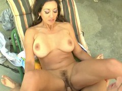 Busty cougar persia monir spreads her legs to be fucked hard, Couple, Hardcore, Pornstars, MILF, Outdoor, Pool, Bikini, Pussy, Big Tits, Fake Tits, Pussy Licking, Fingering, Blowjob, Cowgirl, Doggystyle videos