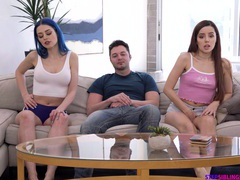 Jewelz blu talked vanna bardot into sharing a big dick with her, Threesome, FFM, Hardcore, Long Hair, Shorts, Natural Tits, Hot Ass, Doggystyle, Missionary, Pussy Licking, Cowgirl videos