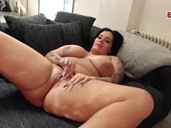 German bbw big boobs milf at pov fuck, BBW, German movies