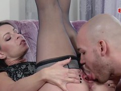Hot german amateur milf fuck with  tits, Couple, Hardcore, German, MILF, Brunettes, Lingerie, Stockings, Nylon, High Heels, Blowjob, Pussy Licking, Natural Tits, Cowgirl, Doggystyle, Missionary, Shaved Pussy, Ball Licking movies at freekilosex.com