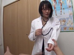 Busty japanese doctor hanyuu arisa spreads her legs to ride a cock videos