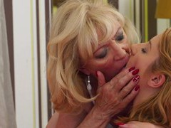 Dirty mature enjoys eating pussy of a younger babe - leona green & csina, Mature Lesbian, Mature videos