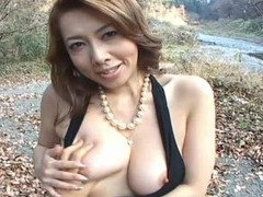 Outdoors video of dirty yumi kazama flashing her trimmed pussy videos