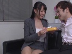 Video of natural boobs japanese girl getting fucked by her boss videos