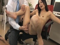 Naughty secretary mai mizusawa drops on her knees to suck two cocks videos