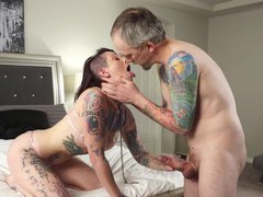 Hardcore fucking on the bed with tattooed slut sully savage, Couple, Hardcore, Tattoo, Punk, Handjob, Blowjob, Bra, Thong, Ball Licking, Natural Tits, Doggystyle, Pussy, Shaved Pussy, Missionary, Cowgirl, Fetish videos