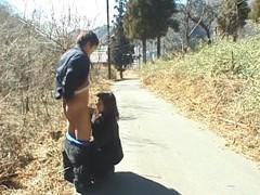 Closeup outdoors video of cute maria yuuki sucking a stiff cock videos