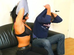 Passionate amateur sex on the sofa with a horny brunette mature, Mature, Mature Amateur videos