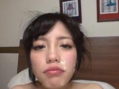 Messy facial ending after wild gangbang with adorable tomoka hayama videos