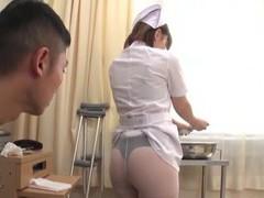 Naughty japanese nurse rui hasegawa eats ass and gives a handjob movies at freekiloclips.com