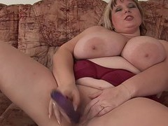 Bbw solo model juliana b. takes off her lingerie to masturbate, BBW movies at find-best-pussy.com