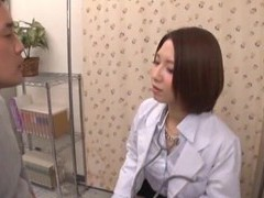 Naughty doctor from japan enjoys riding a patient on the bed videos