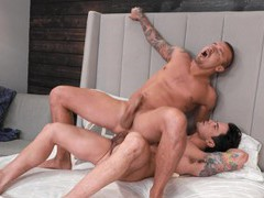 Ass eating leads to passionate gay fucking on the bed. hd tubes