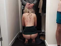 Cuckold husband shares his horny wife with delivery guy., Amateur, Blowjob, British, Cuckold, Female Choice, HD Videos, Doggy Style, Dogging, Wife Sharing, Threesome, Delivery, Cuckolding, Sharing, Cuckold Husband, Husband Shares Wife, Asshole Closeup, Hu videos