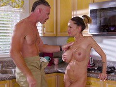 Fucking in the kitchen ends with cum in mouth for mckenzie lee, Couple, Hardcore, Pornstars, MILF, Kitchen, Long Hair, Big Tits, Fake Tits, Blowjob, Pussy, Shaved Pussy, Pussy Licking, Cum In Mouth, Cumshot, Swallow, Cum Swapping movies at find-best-videos.com