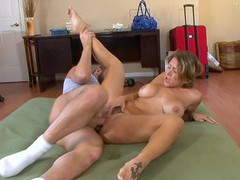 Wild fucking on the floor with curvy wife velicity von + cum in mouth, Couple, Hardcore, Shorts, Bra, High Heels, Handjob, Blowjob, Big Tits, Fake Tits, Cowgirl, Pussy Licking, Big Cocks videos