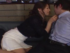 Smooth fucking on the leather sofa with an adorable japanese girl videos