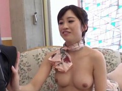 Round tits cutie from japan enjoys riding a dick on the floor videos