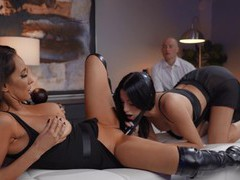 Ffm threesome with irresistible babes isis love and azul hermosa, Threesome, FFM, Hardcore, Pornstars, MILF, Toys, Leather, Brunettes, Doggystyle, Pussy, High Heels, Cowgirl, Pussy Licking, Blowjob, Big Tits, Fake Tits, Clothed Sex, Strapon videos