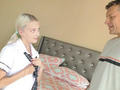 Skinny blonde chick kate bloom gives a blowjob and gets fucked, Couple, Hardcore, HD Teen, Pigtails, Small Tits, Pussy, Shaved Pussy, Socks, Missionary, Blowjob, Doggystyle, Skinny videos