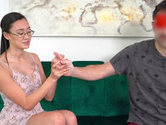 Sexy asian chick madi laine takes money for wild fucking in pov videos