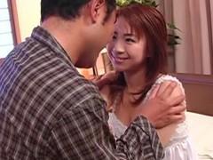 Closeup video of naughty karen ichinose giving a deepthroat videos