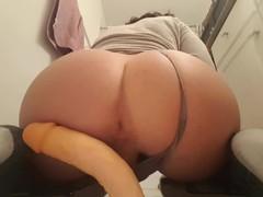 Cute bubble ass booty boy riding a dildo until cumming videos