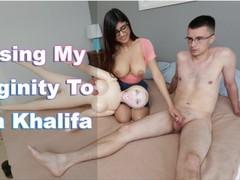 Mia khalifa - nerdy fan loses his virginity to his favorite pornstar videos
