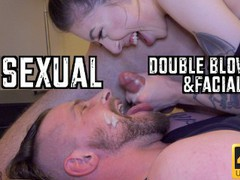 Quarantined bisexual double blowjob & facial  movies at find-best-ass.com