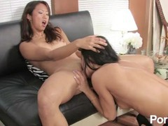 Asian girl's first lesbian experience movies at kilogirls.com