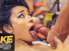 Fake hostel asian japanese rae lil black rough sex after massage movies at kilomatures.com