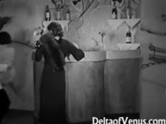 Vintage porn 1930s - ffm threesome - nudist bar tubes