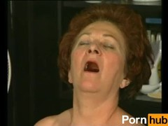 Retro granny gets hot dicking from muscled stud tubes
