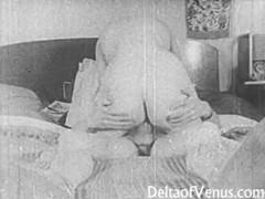 Authentic vintage porn 1950s - shaved pussy, voyeur fuck tubes