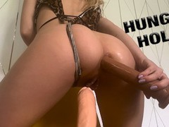 Horny babe needs two dicks in her tight holes  larajuicy videos